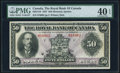 Canadian Currency, Montreal, PQ- Royal Bank of Canada $50 3.1.1927 Ch.# 630-14-16 PMG Extremely Fine 40 EPQ.. ...