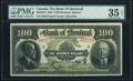 Canadian Currency, Montreal, PQ- Bank of Montreal $100 2.1.1923 Ch.# 505-56-10 PMG Choice Very Fine 35 EPQ.. ...