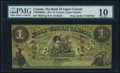 Canadian Currency, Toronto, UC- Bank of Upper Canada $1 1.1.1861 Ch.# 770-220-602a Sarnia Overprint PMG Very Good 10.. ...