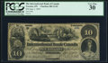 Canadian Currency, Toronto, ON- International Bank of Canada $10 1.6.1859 Ch.# 380-12-02 PCGS Very Fine 30.. ...