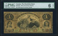 Canadian Currency, Toronto, ON- Dominion Bank $4 1.1.1876 Ch.# 220-12-02 PMG Good 6Net.. ...