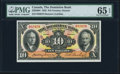 Canadian Currency, Toronto, ON- Dominion Bank $10 2.1.1935 Ch.# 220-26-04 PMG GemUncirculated 65 EPQ.. ...