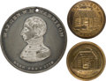Political:Tokens & Medals, William Henry Harrison: Token and Clothing Buttons....
