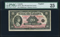 Canadian Currency, BC-9b $20 1935 PMG Very Fine 25.. ...