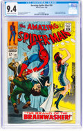 Silver Age (1956-1969):Superhero, The Amazing Spider-Man #59 (Marvel, 1968) CGC NM 9.4 Off-white towhite pages....