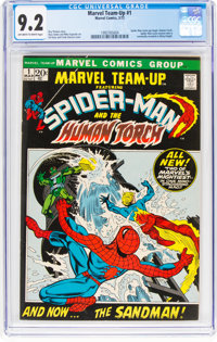 Marvel Team-Up #1 Spider-Man and the Human Torch (Marvel, 1972) CGC NM- 9.2 Off-white to white pages