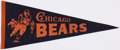 Football Collectibles:Others, c. 1950s Chicago Bears Pennant. ...