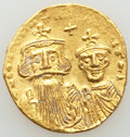 Ancients:Byzantine, Ancients: Heraclius (AD 610-641) and Heraclius Constantine (AD613-641). AV solidus (19mm, 4.38 gm, 6h). AU......