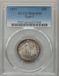 Standing Liberty Quarters, 1917 25C Type One MS64 Full Head PCGS. PCGS Population: (2126/1833). NGC Census: (1413/1142). MS64. Mintage 8,740,000. ...