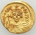 Ancients:Byzantine, Ancients: Phocas (AD 602-610). AV solidus (20mm, 4.40 gm, 7h). XF,marks....