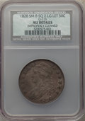 Bust Half Dollars, 1828 50C Square Base 2, Small 8s, Large Letters, O-115, R.2, -- Improperly Cleaned -- NCS. AU Details. NGC Census: (0/25). ...