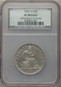 1860-O 50C -- Improperly Cleaned -- NCS. XF Details. NGC Census: (14/214). PCGS Population: (42/308). CDN: $150 Whsle. B...