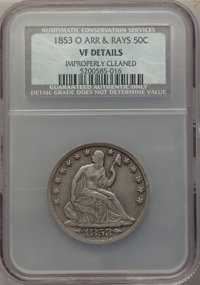 1853-O 50C Arrows and Rays -- Improperly Cleaned -- NCS. VF Details. NGC Census: (8/205). PCGS Population: (10/339). VF2...
