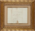 Autographs:Military Figures, David Crockett: Free Frank [FF] Stampless Cover....