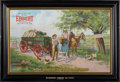 Advertising:Signs, Self-Framed Tin Lithograph Advertising Sign for the Ebbert Wagon....