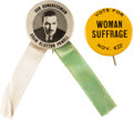 Political:Pinback Buttons (1896-present), Woman's Suffrage and Civil Rights: Two Pinbacks.... (Total: 2 Items)