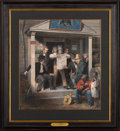 Antiques:Posters & Prints, Richard Caton Woodville's Mexican News Engraving, circa 1851....