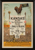 Political:Posters & Broadsides (pre-1896), James G. Blaine: Simply the Most Exciting Poster of this Era Which We Have Ever Encountered!...