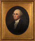 Political:3D & Other Display (pre-1896), George Washington: A Superb, Large, Signed Oil on Canvas Portrait by Philadelphia Artist Robert Street (1796-1865)....