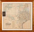 Books:Maps & Atlases, G. Woolworth Colton. Colton's New Map of the State ofTexas....