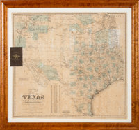 G. Woolworth Colton. Colton's New Map of the State of Texas