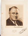 Autographs:U.S. Presidents, Franklin D. Roosevelt: Signed 1933 Menu, as President-Elect....