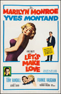 "Movie Posters:Comedy, Let's Make Love (20th Century Fox, 1960). Fine+ on Linen. One Sheet(27"" X 41""). Comedy.. ..."