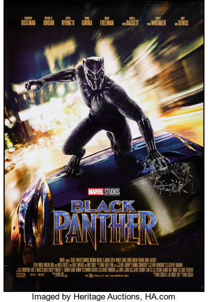 Black Panther Walt Disney Studios 2018 Rolled Very Fine One Lot 54042 Heritage Auctions