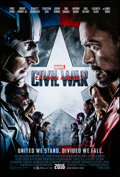 """Movie Posters:Action, Captain America: Civil War (Walt Disney Studios, 2016). Rolled,Very Fine+. One Sheet (27"""" X 40"""") DS Advance. Action...."""