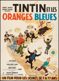 """Movie Posters:Foreign, Tintin and the Blue Oranges (Pathe Consortium Cinema, 1964). Very Fine- on Linen. French Moyenne (22.75"""" X 31"""") George """"Herg..."""