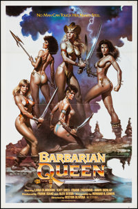 "Barbarian Queen & Other Lot (Cinema Group, 1985). Folded, Very Fine-. One Sheets (2) (27"" X 41"" &a..."