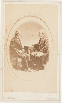 Robert E. Lee and Joseph Johnston: Carte-de-Visite by Ryan of Savannah