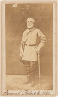 """Photography:CDVs, Robert E. Lee: """"Booted and Spurred"""" Carte-de-Visite [CDV] after Minnis & Cowell...."""