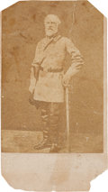 """Photography:CDVs, Robert E. Lee: Confederate-Issue """"Booted and Spurred"""" Carte-de-Visite [CDV]...."""