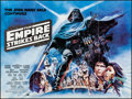 """Movie Posters:Science Fiction, The Empire Strikes Back (20th Century Fox, 1980). Folded, Very Fine. British Quad (30"""" X 40"""") White Title Style, Tom Jung Ar..."""