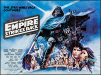 "The Empire Strikes Back (20th Century Fox, 1980). Folded, Very Fine. British Quad (30"" X 40"") White Title Styl..."