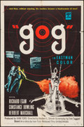 "Movie Posters:Science Fiction, Gog (United Artists, 1954). Folded, Fine+. One Sheet (27"" X 41"").Science Fiction.. ..."