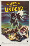 Movie Posters:Horror, Curse of the Undead (Universal International, 1959). Folde...