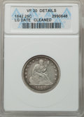 Seated Quarters, 1842 25C Large Date -- Cleaned -- ANACS. VF 20 Details. NGC Census: (1/41). PCGS Population: (5/69). CDN: $200 Whsle. Bid f...