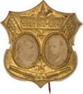 Political:Pinback Buttons (1896-present), Hancock & English: One of the Rarest Photo Jugates For That Elusive Ticket....