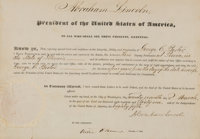 Abraham Lincoln: A Fine 1861 Illinois Postmaster's Appointment with Strong Lincoln Signature