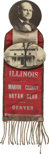 Political:Pinback Buttons (1896-present), William Jennings Bryan: Spectacular Large 1908 Campaign Badge....