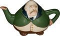 Political:3D & Other Display (1896-present), Theodore Roosevelt: Marvelous and Rare Caricature Ceramic Teapot....