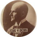 """Political:Pinback Buttons (1896-present), Eugene V. Debs: Striking and Possibly Unique 1 1/4"""" 1904-dated Button...."""