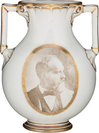 James A. Garfield: Impressive Large China Vase Which We Have Not Seen Previously