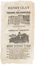 Political:Ribbons & Badges, Henry Clay: An Important Unlisted 1844 Ribbon Opposing Annexation of Texas....