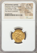 Ancients:Byzantine, Ancients: Heraclius (AD 610-641) and Heraclius Constantine. AVsolidus (20mm, 4.39 gm, 6h). NGC Choice AU 4/5 - 4/5, c...