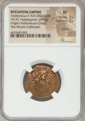 Ancients:Byzantine, Ancients: Andronicus II Palaeologus (AD 1282-1328). AV/EL hyperpyron (23mm, 4.01 gm, 5h). NGC XF 3/5 - 2/5, graffiti....