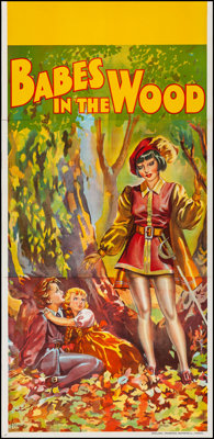 Pantomime Theatre--Babes in the Wood (Taylors Printers, Wombwell, c.1930). Very Fine on Linen. British Three Sheet (39.7...