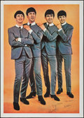 """Movie Posters:Rock and Roll, The Beatles (c. 1964). Rolled, Very Fine-. Commercial Poster (41.5"""" X 57.75""""""""). Rock and Roll.. ..."""